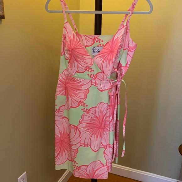Lilly Pulitzer Floral Wrap Mini Dress